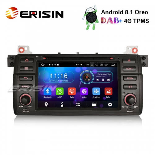 Erisin ES3946B 7 Android 8.1 Car Stereo GPS DAB+ BT for BMW 3 Series E46 M3 Rover75 MG ZT DVD DTV DVR