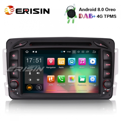 "Erisin ES7863C 7"" Android 8.0 Car Stereo GPS DAB+BT CD for Mercedes Benz C/CLK/G Class W203 Vito Viano"