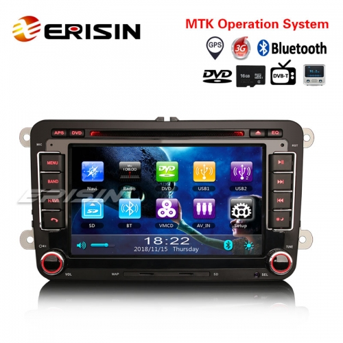 "Erisin ES791V 7"" Autoradio GPS DVB-T2 Navi OPS DVD 3G For VW Golf Passat Touran Jetta Polo Tiguan"