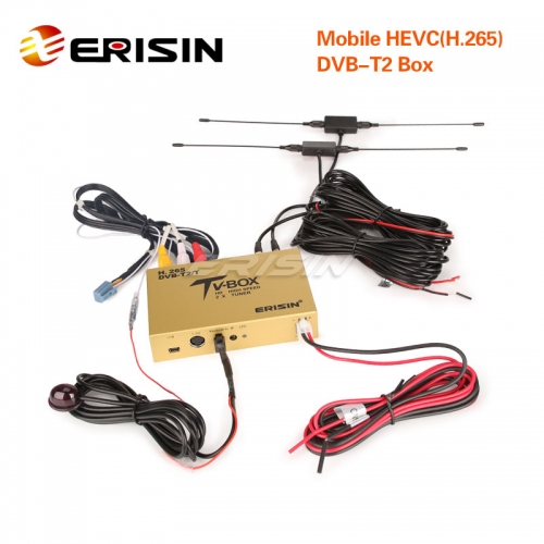 Erisin ES338-KB Touch Screen Control Car Mobile Digitale HDTV DVB-T2 Receiver