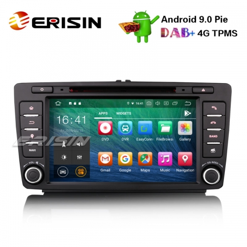 "Erisin ES7926S 8"" Android 9.0 Autoradio GPS Wifi DAB+ CD DVB-T2 WiFi OBD Navi for SKODA OCTAVIA"