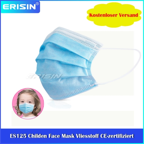 ES125 Children Face Mask Disposable Protection Anti-Dust Dustproof Nonwoven Fabric CE Certified