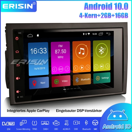 Erisin ES3028A Android 10.0 Car Stereo DAB+ Sat Nav DSP CarPlay SWC Wifi For  AUDI A4 S4 RS4 B7 B9 SEAT EXEO