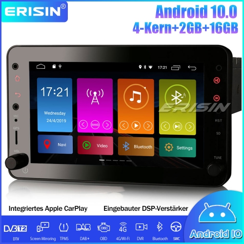 "Erisin ES3020R 7"" Android 10.0 DAB+ Car Stereo CarPlay GPS DSP 4G OBD Canbus TPMS for Alfa Romeo Brera Spider 159 Sportwagon"