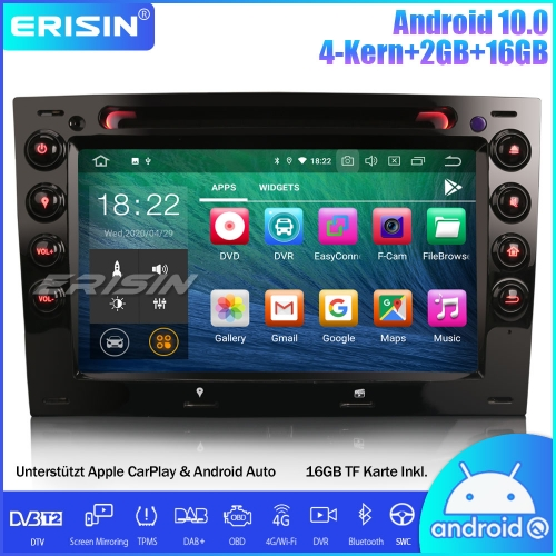 Erisin ES5113M Android 10.0 Car Stereo Sat Nav GPS DAB + DVB-T2 CarPlay Wifi 4G DVD OBD CD Canbus SWC for Renault Megane