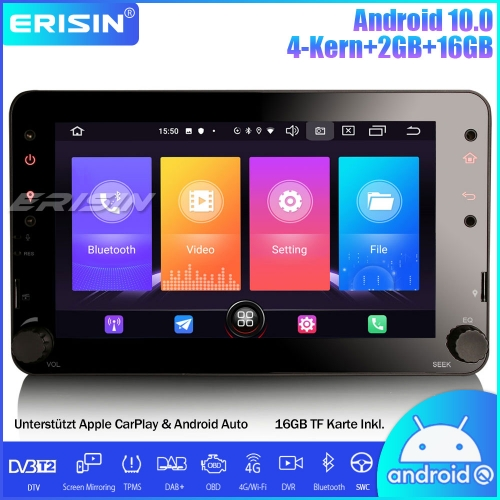"Erisin ES2720R 7"" Android 10.0 DAB+ Car Stereo CarPlay GPS OBD Canbus TPMS Satnav for Alfa Romeo Brera Spider 159 Sportwagon"