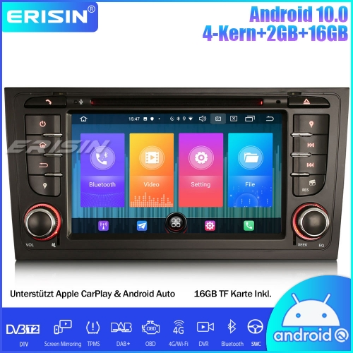 Erisin ES2706A DAB+ Android 10.0 Car Stereo GPS Sat Nav SWC Canbus DVB-T2 OBD CarPlay For AUDI A6 S6 RS6 Allroad