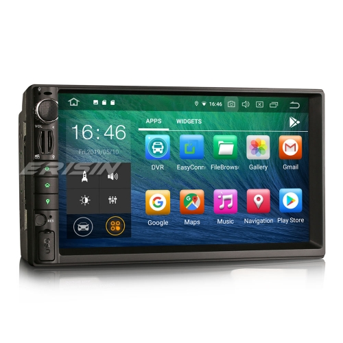 "Erisin ES8049U 7"" IPS Double Din Android 9.0 Car Stereo GPS Satnav WiFi TPMS DAB+DVR DTV-IN OBD2"