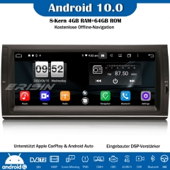 Erisin ES8725B Android 10.0 Autoradio DAB+GPS Bluetooth DSP CarPlay OBD DVD For BMW 5 Series 5er E39 E53 X5 M5