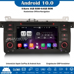 Erisin ES8746B Android 10.0 Car Radio DAB+ GPS Bluetooth DSP CarPlay OBD DVD For BMW 3 Series 3er E46 318 320 325 M3 Rover 75 MG ZT
