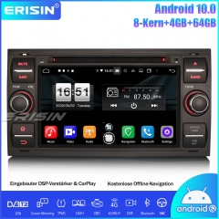 Erisin ES8766FB Android 10.0 Car Radio Stereo DAB+GPS Bluetooth DSP CarPlay OBD DVD For Ford C/S-Max Mondeo Kuga Fiesta