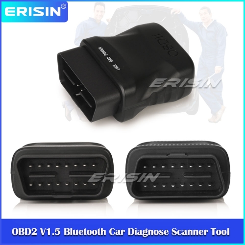 Erisin ES357 OBD2 ELM327 V1.5 Car Bluetooth 4.0 Scanner Tool Diagnostic For iOS Android Win Ce Devices