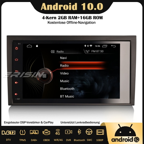 "Erisin ES4284A 8"" DSP DAB+Android 10.0 Car Stereo Sat Nav GPS CarPlay Wifi RDS OBD DVB-T2 4G For AUDI A4 S4 RS4 RNS-E SEAT EXEO"