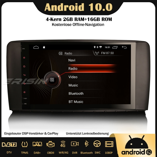 "Erisin ES4295R 9"" DSP DAB+Android 10.0 Car Stereo Sat Nav GPS CarPlay Wifi RDS OBD DVB-T2 4G For Mercedes Benz R Class W251"