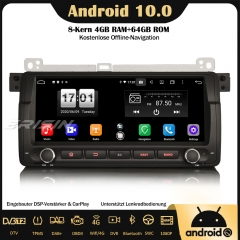 "Erisin ES8788B 8.8"" Android 10.0 Car Radio DAB+ GPS Bluetooth DSP CarPlay OBD DVR SWC Bluetooth For BMW 3 Series 3er E46 318 320 325 M3 Rover 75 MG ZT"