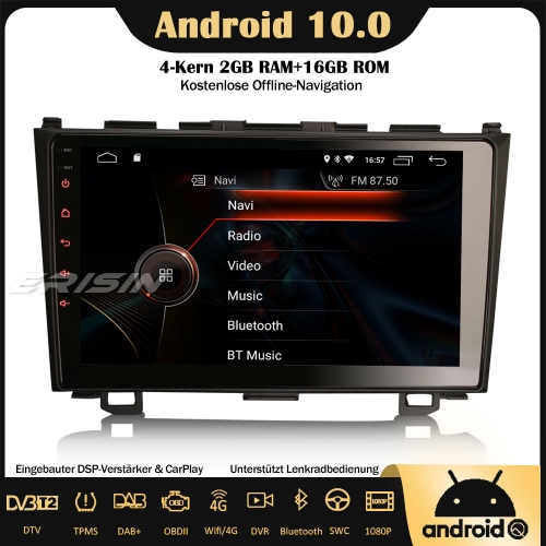 "Erisin ES4299C 9"" Android 10.0 Car Stereo DSP DAB+ GPS SWC DVB-T2 CarPlay Sat Nav OBD2 4G RDS Bluetooth For Honda CR-V"