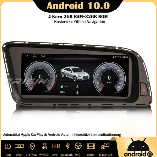 "Erisin ES2605Q 8.8"" DAB+ Android 10.0 Car Stereo GPS Sat Nav SWC Canbus CarPlay IPS RDS DVR 4G For AUDI Q5"