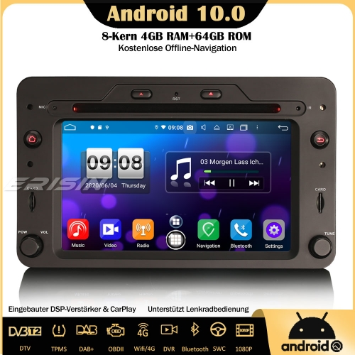 Erisin ES8720R 8-Core Android 10.0 DAB+DSP Car Stereo CarPlay Sat Nav OBD GPS SWC Bluetooth CD For Alfa Romeo Brera Spider 159 Sportwagon