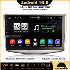 "Erisin ES8717P 10.1"" DSP DAB+Android 10.0 Car Stereo GPS Sat Nav Wifi SWC CarPlay OBD RDS TPMS OPS 8-Core 4G for VW Passat CC B6 B7"