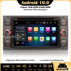 Erisin ES8166F Android 10.0 Car Stereo DAB+ Sat Nav Bluetooth DSP CarPlay OBD DVD Wifi TPMS DTV For Ford C/S-Max Mondeo Kuga Fiesta Fusion Focus Galax