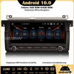 Erisin ES8746B 8-Core Android 10.0 Car Stereo DAB+ GPS DSP CarPlay Bluetooth OBD SWC DTV Sat Nav For BMW 3 Series 3er E46 318 320 325 M3 Rover 75 MG Z
